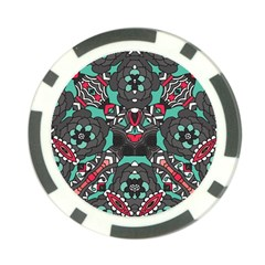 Petals In Dark & Pink, Bold Flower Design Poker Chip Card Guard (10 Pack) by Zandiepants
