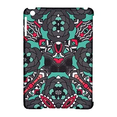Petals In Dark & Pink, Bold Flower Design Apple Ipad Mini Hardshell Case (compatible With Smart Cover) by Zandiepants