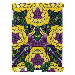 Petals In Mardi Gras Colors, Bold Floral Design Apple Ipad 3/4 Hardshell Case (compatible With Smart Cover) by Zandiepants
