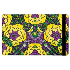 Petals In Mardi Gras Colors, Bold Floral Design Apple Ipad 3/4 Flip Case by Zandiepants