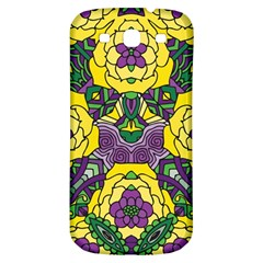 Petals In Mardi Gras Colors, Bold Floral Design Samsung Galaxy S3 S Iii Classic Hardshell Back Case by Zandiepants