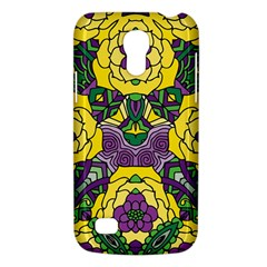 Petals In Mardi Gras Colors, Bold Floral Design Samsung Galaxy S4 Mini (gt I9190) Hardshell Case  by Zandiepants