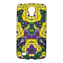 Petals In Mardi Gras Colors, Bold Floral Design Samsung Galaxy S4 Active (i9295) Hardshell Case by Zandiepants