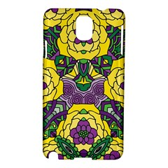 Petals In Mardi Gras Colors, Bold Floral Design Samsung Galaxy Note 3 N9005 Hardshell Case by Zandiepants