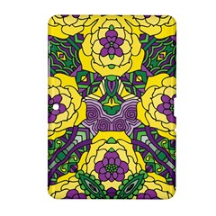 Petals In Mardi Gras Colors, Bold Floral Design Samsung Galaxy Tab 2 (10 1 ) P5100 Hardshell Case  by Zandiepants