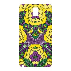 Petals In Mardi Gras Colors, Bold Floral Design Samsung Galaxy Note 3 N9005 Hardshell Back Case by Zandiepants