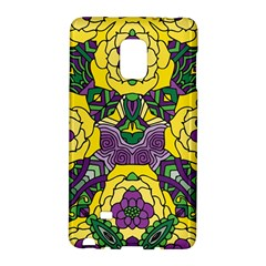 Petals In Mardi Gras Colors, Bold Floral Design Samsung Galaxy Note Edge Hardshell Case by Zandiepants