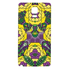 Petals In Mardi Gras Colors, Bold Floral Design Samsung Note 4 Hardshell Back Case by Zandiepants