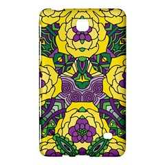 Petals In Mardi Gras Colors, Bold Floral Design Samsung Galaxy Tab 4 (7 ) Hardshell Case  by Zandiepants