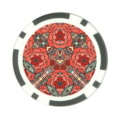 Petals In Pale Rose, Bold Flower Design Poker Chip Card Guard (10 Pack) by Zandiepants