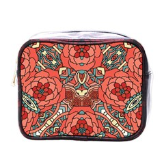 Petals In Pale Rose, Bold Flower Design Mini Toiletries Bag (one Side) by Zandiepants