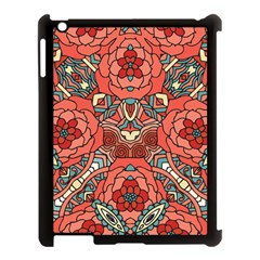 Petals In Pale Rose, Bold Flower Design Apple Ipad 3/4 Case (black) by Zandiepants