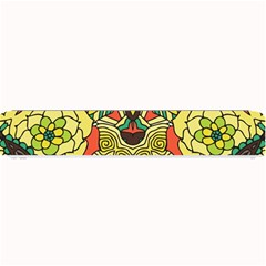 Petals, Retro Yellow, Bold Flower Design Small Bar Mat by Zandiepants