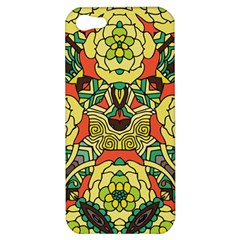 Petals, Retro Yellow, Bold Flower Design Apple Iphone 5 Hardshell Case by Zandiepants