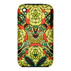 Petals, Retro Yellow, Bold Flower Design Apple Iphone 3g/3gs Hardshell Case (pc+silicone) by Zandiepants