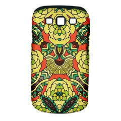 Petals, Retro Yellow, Bold Flower Design Samsung Galaxy S Iii Classic Hardshell Case (pc+silicone) by Zandiepants
