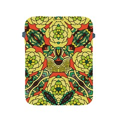Petals, Retro Yellow, Bold Flower Design Apple Ipad 2/3/4 Protective Soft Case by Zandiepants
