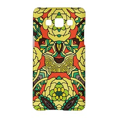 Petals, Retro Yellow, Bold Flower Design Samsung Galaxy A5 Hardshell Case  by Zandiepants