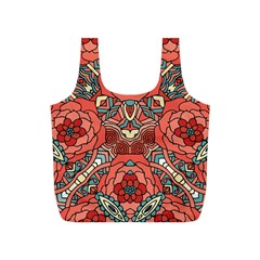 Petals In Pale Rose, Bold Flower Design Full Print Recycle Bag (s) by Zandiepants