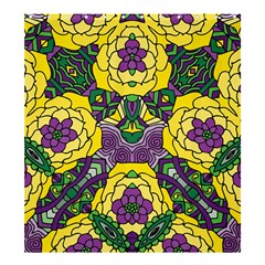 Petals In Mardi Gras Colors, Bold Floral Design Shower Curtain 66  X 72  (large) by Zandiepants