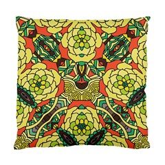 Petals, Retro Yellow, Bold Flower Design Standard Cushion Case (one Side) by Zandiepants