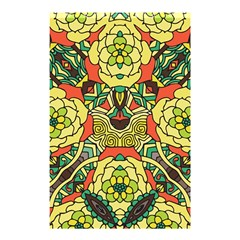 Petals, Retro Yellow, Bold Flower Design Shower Curtain 48  X 72  (small) by Zandiepants