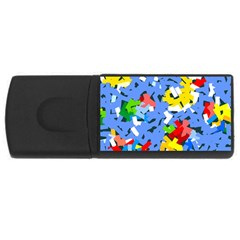 Rectangles Mix                          			usb Flash Drive Rectangular (4 Gb) by LalyLauraFLM