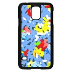Rectangles mix                          			Samsung Galaxy S5 Case (Black) Front