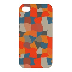 Retro Colors Distorted Shapes                           Apple Iphone 4/4s Hardshell Case by LalyLauraFLM