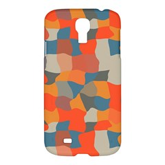 Retro Colors Distorted Shapes                           			samsung Galaxy S4 I9500/i9505 Hardshell Case by LalyLauraFLM