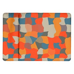 Retro Colors Distorted Shapes                           			samsung Galaxy Tab 10 1  P7500 Flip Case by LalyLauraFLM