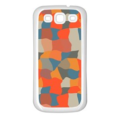 Retro Colors Distorted Shapes                           			samsung Galaxy S3 Back Case (white) by LalyLauraFLM