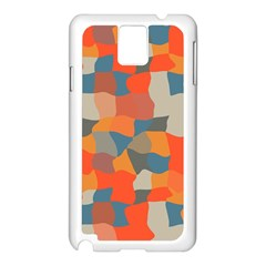 Retro Colors Distorted Shapes                           			samsung Galaxy Note 3 N9005 Case (white) by LalyLauraFLM
