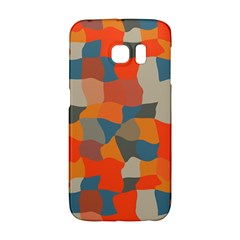 Retro Colors Distorted Shapes                           			samsung Galaxy S6 Edge Hardshell Case by LalyLauraFLM