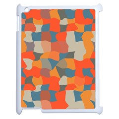 Retro Colors Distorted Shapes                           			apple Ipad 2 Case (white) by LalyLauraFLM