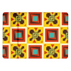 Retro Colors Squares Pattern                            			samsung Galaxy Tab 10 1  P7500 Flip Case
