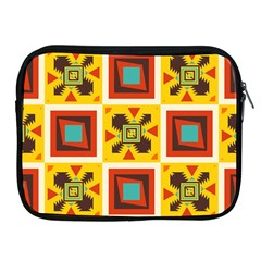 Retro Colors Squares Pattern                            			apple Ipad 2/3/4 Zipper Case by LalyLauraFLM