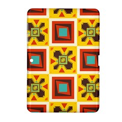 Retro Colors Squares Pattern                            			samsung Galaxy Tab 2 (10 1 ) P5100 Hardshell Case