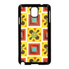 Retro Colors Squares Pattern                            			samsung Galaxy Note 3 Neo Hardshell Case (black) by LalyLauraFLM