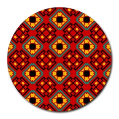 Flower Shapes Pattern                             			round Mousepad