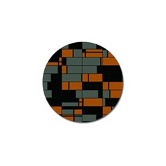 Rectangles In Retro Colors                              			golf Ball Marker (4 Pack) by LalyLauraFLM