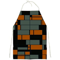Rectangles In Retro Colors                              			full Print Apron by LalyLauraFLM