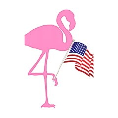 Flamingo American Flag Patriotic Shower Curtain 48  X 72  (small)  by CrypticFragmentsColors