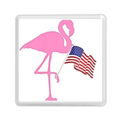 Flamingo American Flag Patriotic Memory Card Reader (square)  by CrypticFragmentsColors