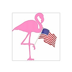 Flamingo American Flag Patriotic Satin Bandana Scarf by CrypticFragmentsColors