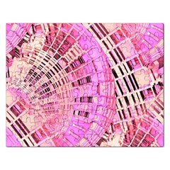 Pretty Pink Circles Curves Pattern Jigsaw Puzzle (rectangular) by CrypticFragmentsDesign