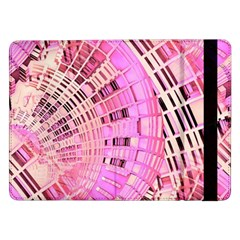 Pretty Pink Circles Curves Pattern Samsung Galaxy Tab Pro 12 2  Flip Case by CrypticFragmentsDesign