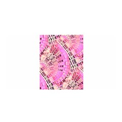 Pretty Pink Circles Curves Pattern Satin Wrap by CrypticFragmentsDesign