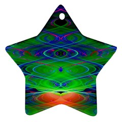 Neon Night Dance Party Ornament (star)  by CrypticFragmentsDesign