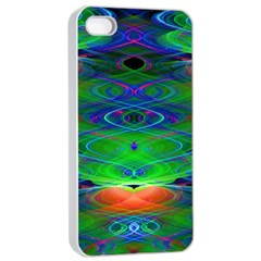 Neon Night Dance Party Apple Iphone 4/4s Seamless Case (white) by CrypticFragmentsDesign